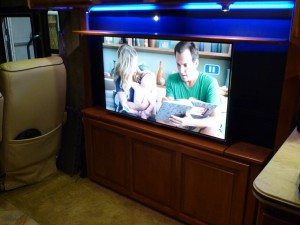 New TV In New Cabinet