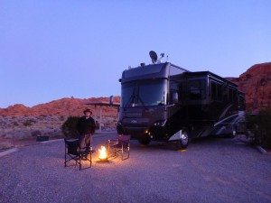Our First Evening At The Valley Of Fire State Park Campground