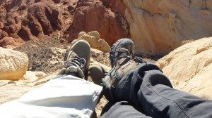 Our Feet As We Sat And Relaxed On The Top Of Silica Dome