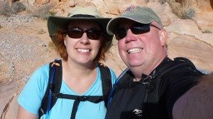 David And Brenda Hiking In Valley Of Fire State Park