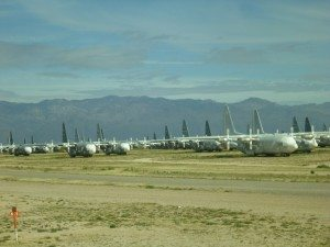 Planes Lined Up In The Boneyard