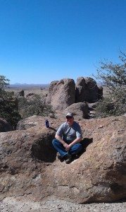 David Enjoying The City Of Rocks State Park