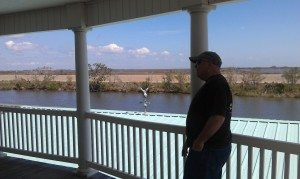 """David Enjoying The View From Our Friends """"Camp"""" House"""