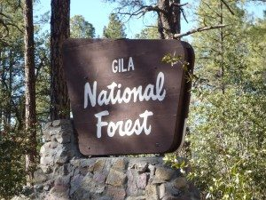 The Entrance Sign To The Gila National Forest