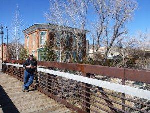 David On The Bridge That Crosses The Big Ditch Park.