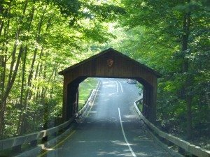 The Covered Bridge In The Pierce Stocking Scenic Drive