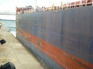 The Ship Heading Towards Lake Superior Raised The 22 Feet Now
