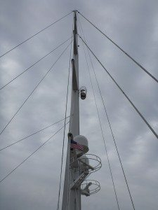 The Mast Of The Hyperion, A Private Sailboat