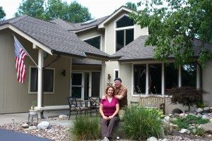 David & Brenda In Front Of House