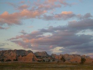 The Sunset At The Badlands