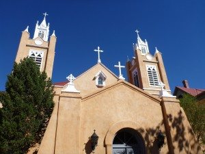 The Old Church In The Town Square In Old Town Albuquerque