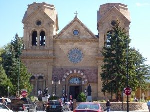 The Cathedral Basilica of St. Francis of Assisi In Santa Fe Plaza