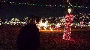 David Enjoying The Christmas Lights