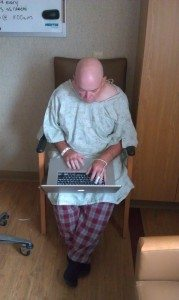 David With In Hospital With Kidney Stone Surgery In Madison, Wisconsin