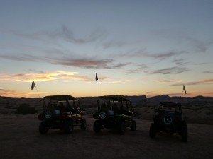 Sunset On Hell's Revenge Trail