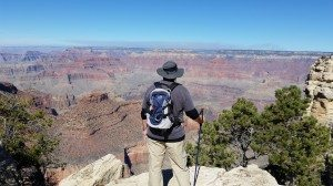 Dvid Enjoying The View Of The Grand Canyon