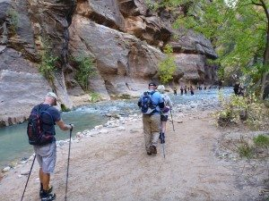 The Start Of The Narrows Trail
