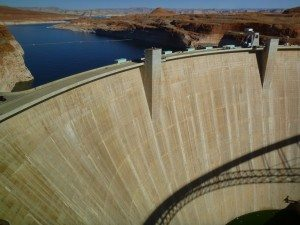 Glen Canyon Dam On Lake Powell