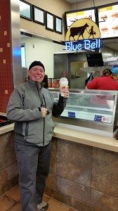 Enjoying Our Blue Bell Ice Cream Shakes