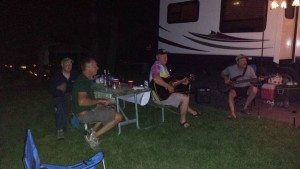Jam Session Around The Campfire