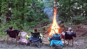 Bon Fire At Our New Seasonal Site In NY