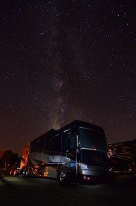 Our Bus Highlighted By The Milky Way In Colorado