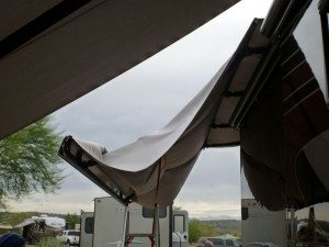 Changing Our Awning Fabric