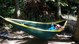 David Relaxing In His Hammock