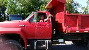 May 2015 - David Learned To Drive The Dump Truck