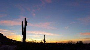 Sunset At Picacho Peak State Park