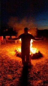 David Channeling His Inner Burning Man