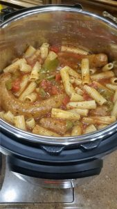 Sausage And Peppers Mixed With Pasta
