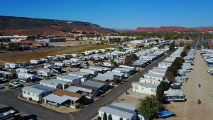 Overhead View Of Temple View RV Resort In St. George, Utah