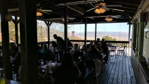 Outdoor Patio At Haunted Hamburger In Jerome, AZ