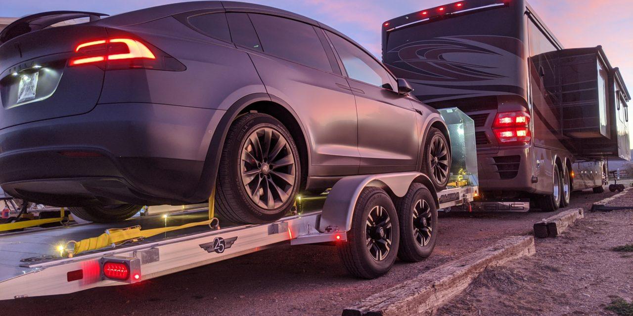 Introducing Our Aluma Tilt Trailer & Tesla Model X!